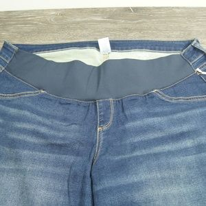 AGlow Demi Belly Panel Jegging Blue Maternity 18